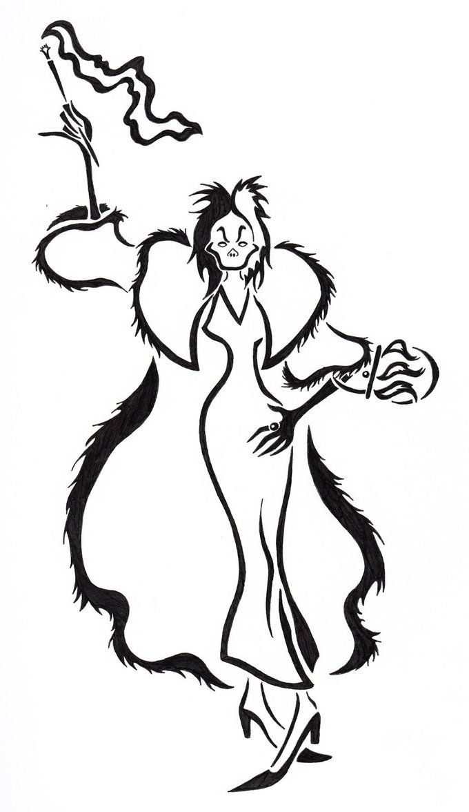 Cruella Deville Tattoo by *Zanture-Angel | Disney | Pinterest ...