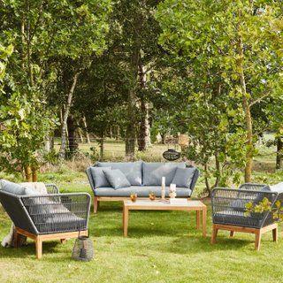 Salon bas de jardin Kythnos bois marron, 5 personnes en 2019 ...