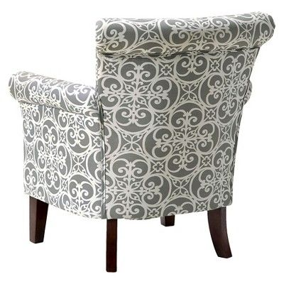 Brooke Chair Doodles Ash Gray Accent Chairs Chair