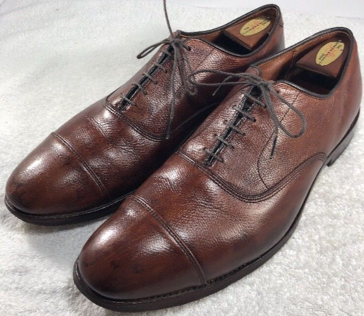 Allen Edmonds Park Avenue Cap Toe Oxford Dress Shoes Brown