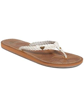 4d012af59 Roxy Mateo Braided Thong Sandals