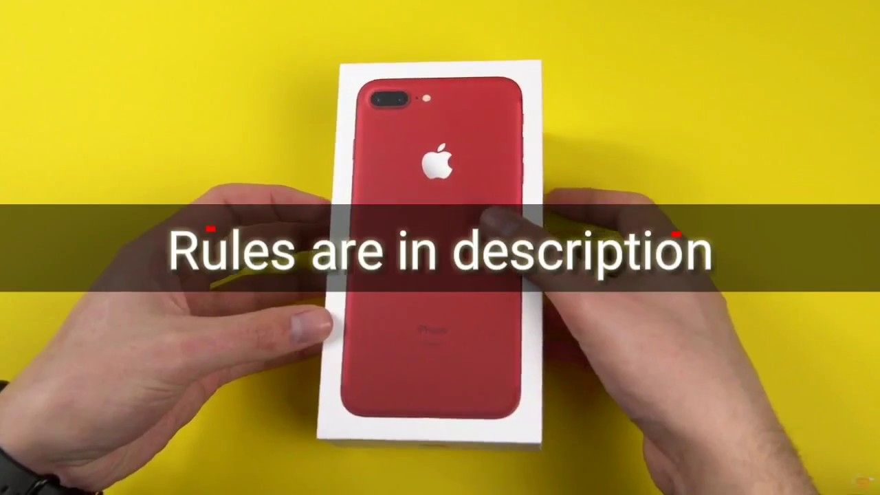 500 SUBSCRIBER SPECIAL!50 RED IPHONE 7 PLUS 256 GB