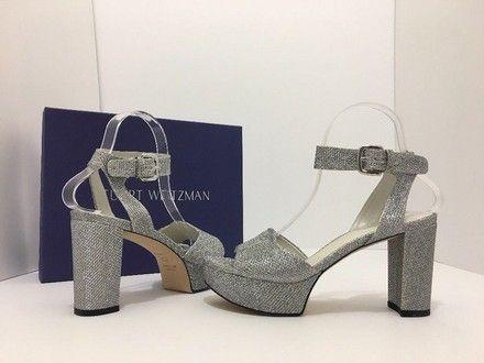 ca165703451 Stuart Weitzman Silver Noir Realdeal Women s Evening Platform High Heels  Sandals Pumps Size US 7.5 Regular (M