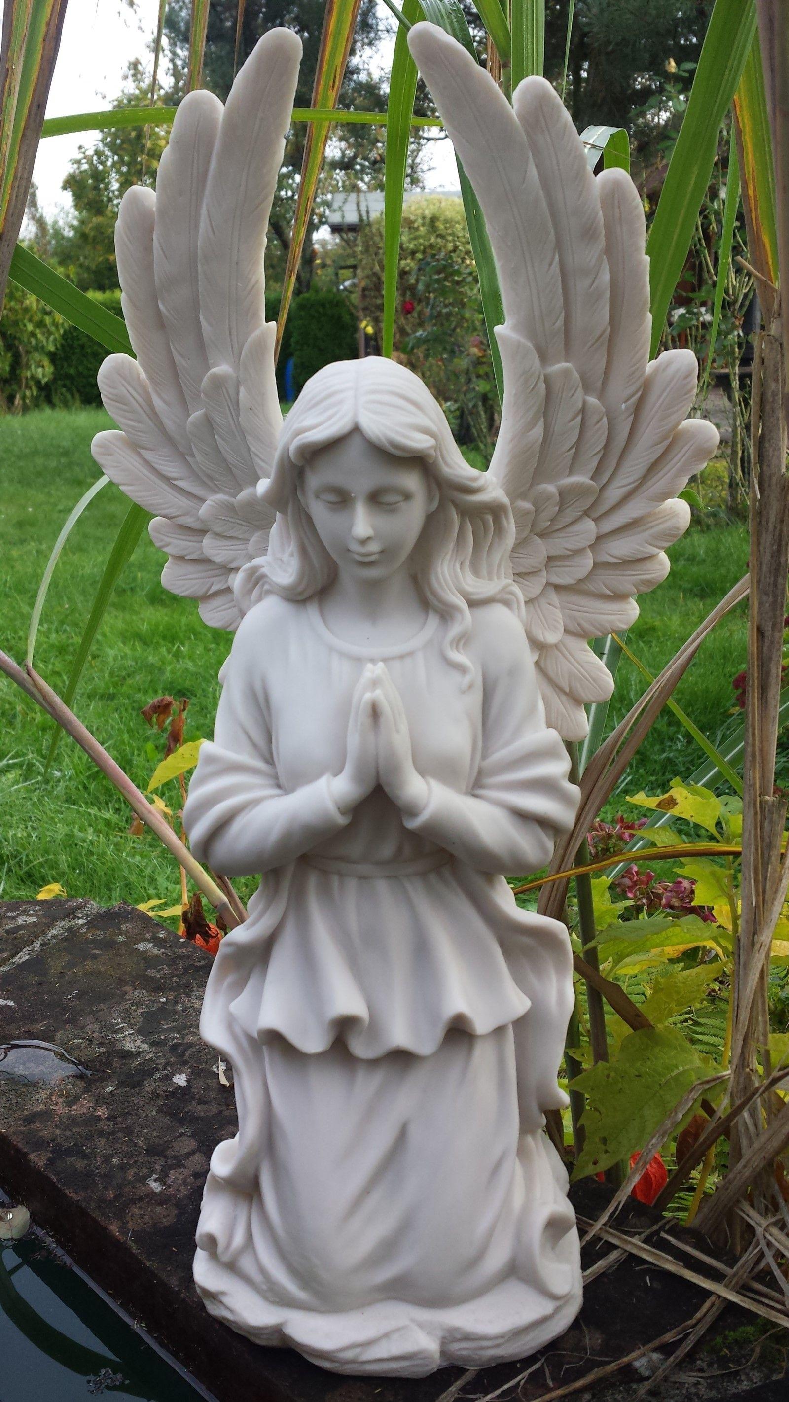 Grosser Betender Engel Knieend Schutzengel Figur Engel Skulptur Engel
