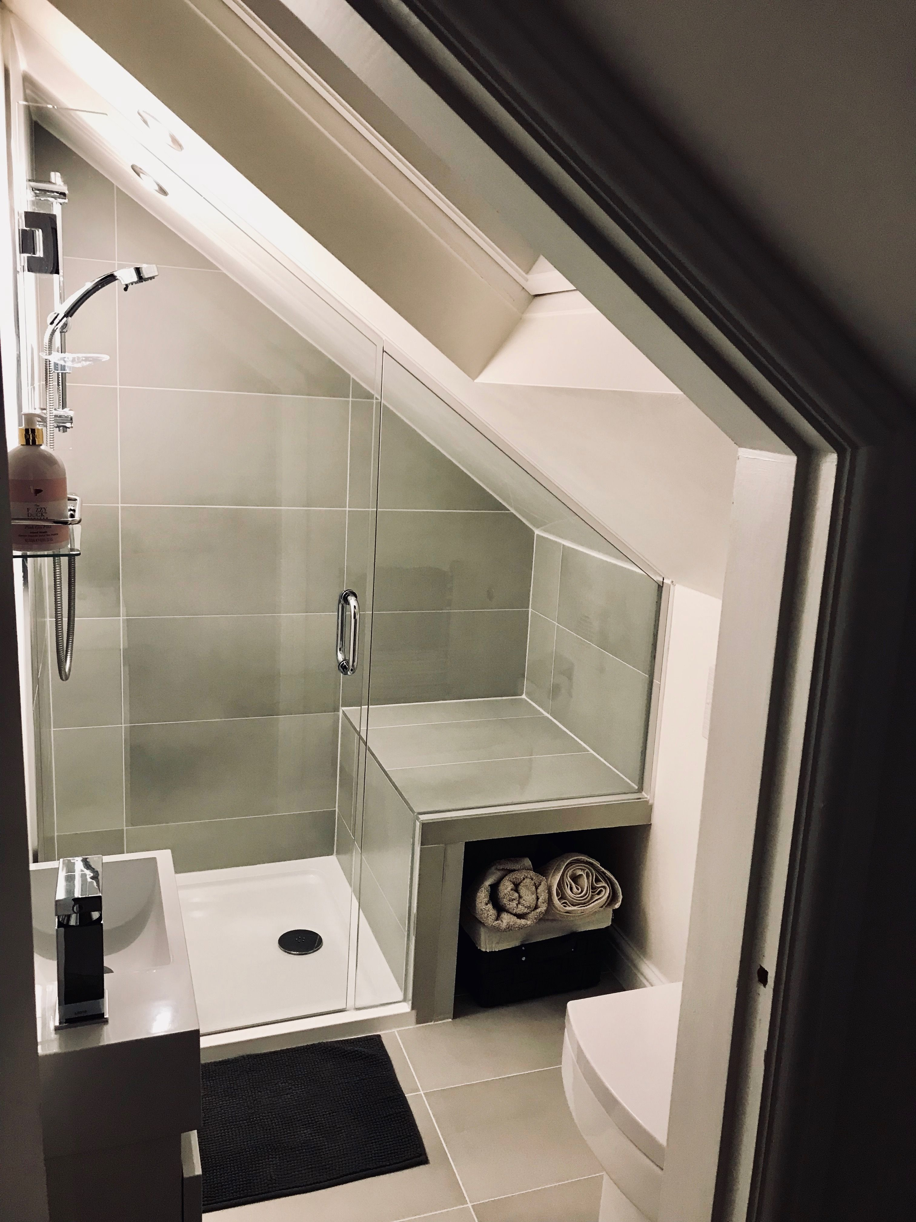 Small loft bathroom conversion #loftconversions