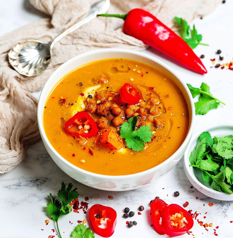 Chilli Butternut Squash Soup UK Health Blog Nadia's
