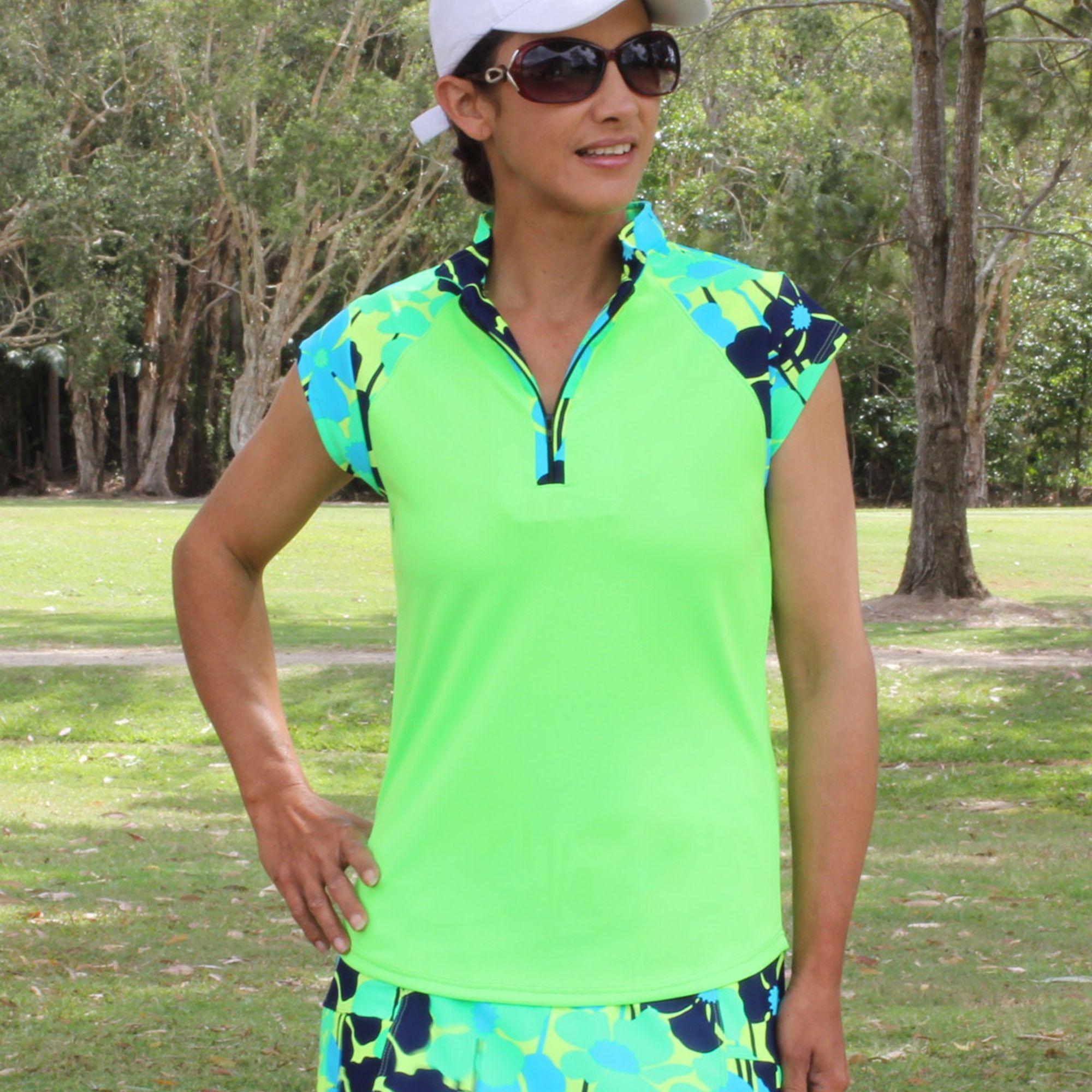 Cute golf outfit in bright green in 2020 cute golf