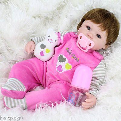 "16/"" Newborn Lifelike Handmade Reborn Baby Dolls Girl Doll Babies Vinyl Silicone"