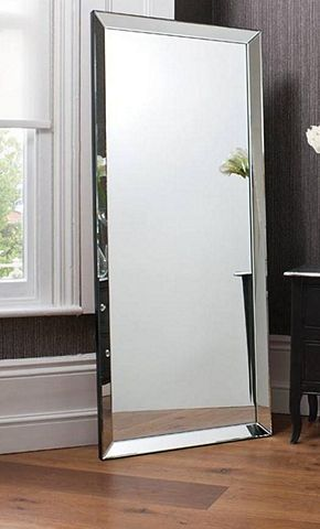 Tesco Direct Large Modern Frameless Wall Mounted Mirror Rectangle 5ft10x2ft6 178x76cm Big Wall Mirrors Wall Mounted Mirror Rectangle Mirror