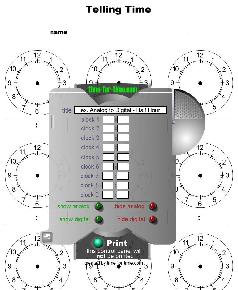Clock Worksheet Generator Free Worksheets Library – Telling Time Worksheet Generator