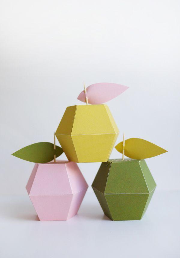 Printable Apple Boxes