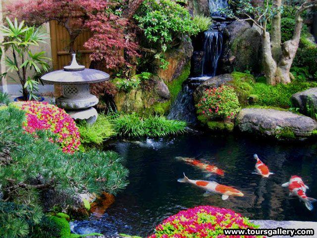 Rikugien Garden Japanische Gärten Pinterest Teiche, Koi - schone garten mit teich