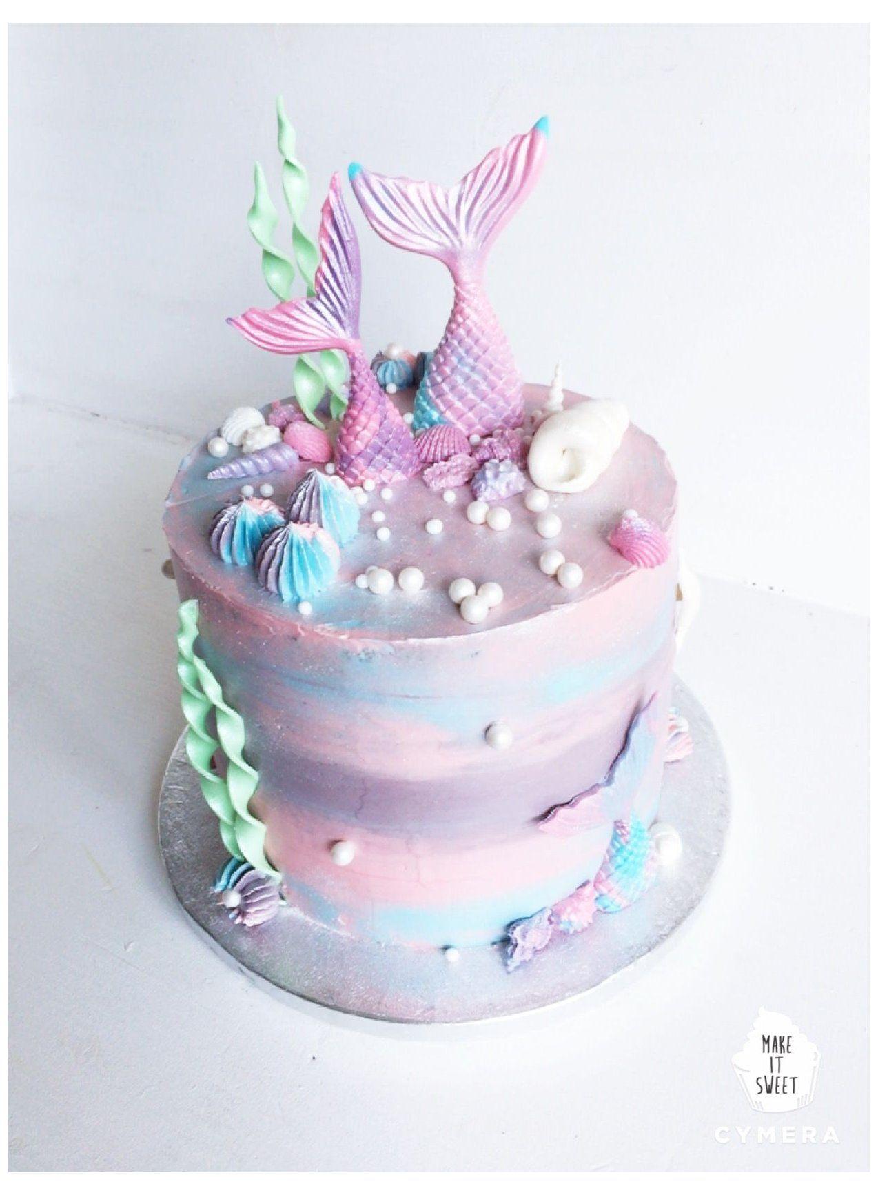 simple mermaid cake design Eine Meerjungfrau-Torte für Mädchen 👧🏼👏🏼 #pink #mermaid #cake
