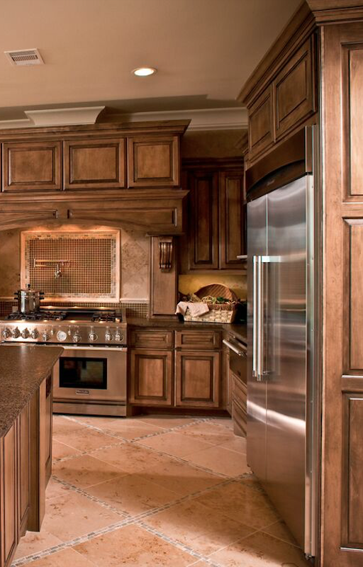 Best Rustic Brown Cabinets With Images Tuscan Kitchen 640 x 480