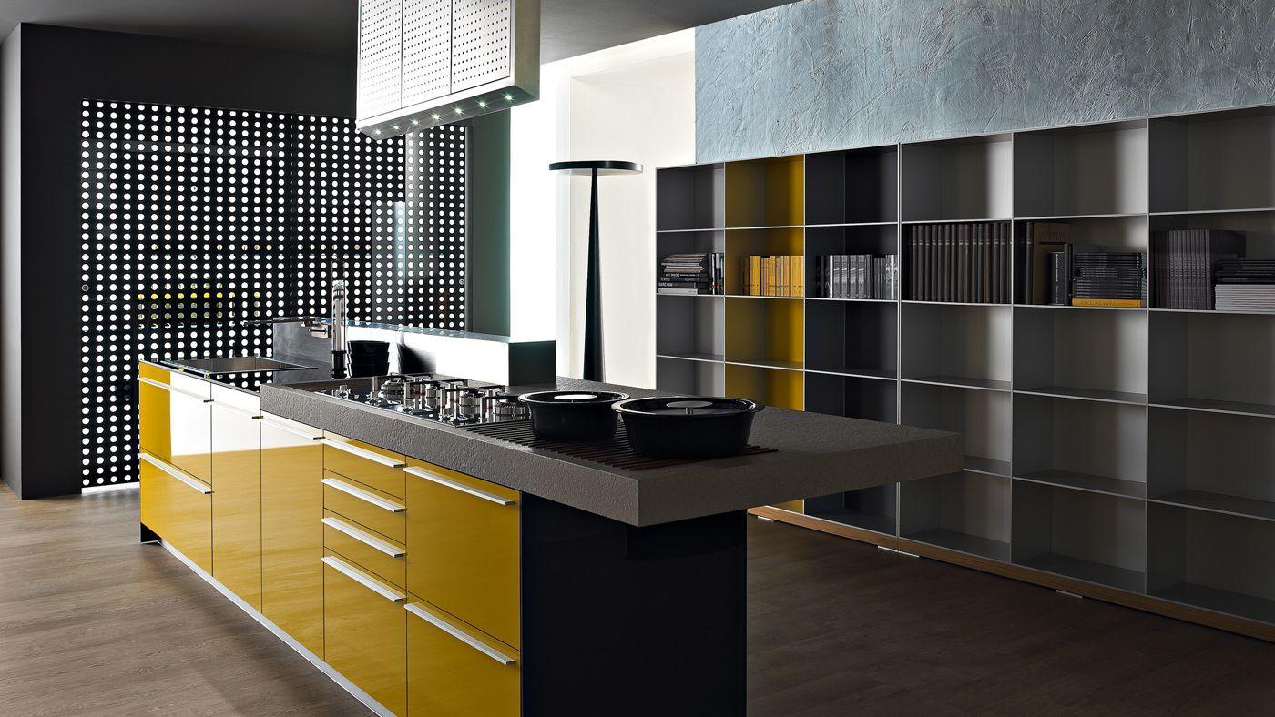 Multiline giallo senape kitchen tours cucine arredamento