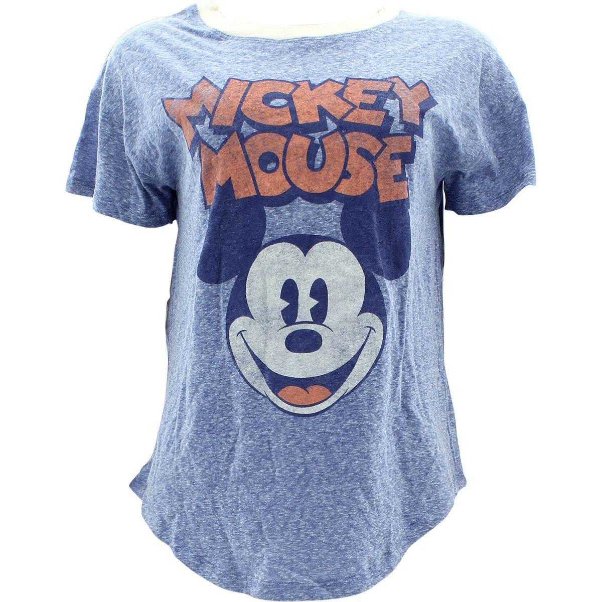 cd98e550 Disney - Women's Mickey Mouse Face T-Shirts - Blue | disney stuff ...