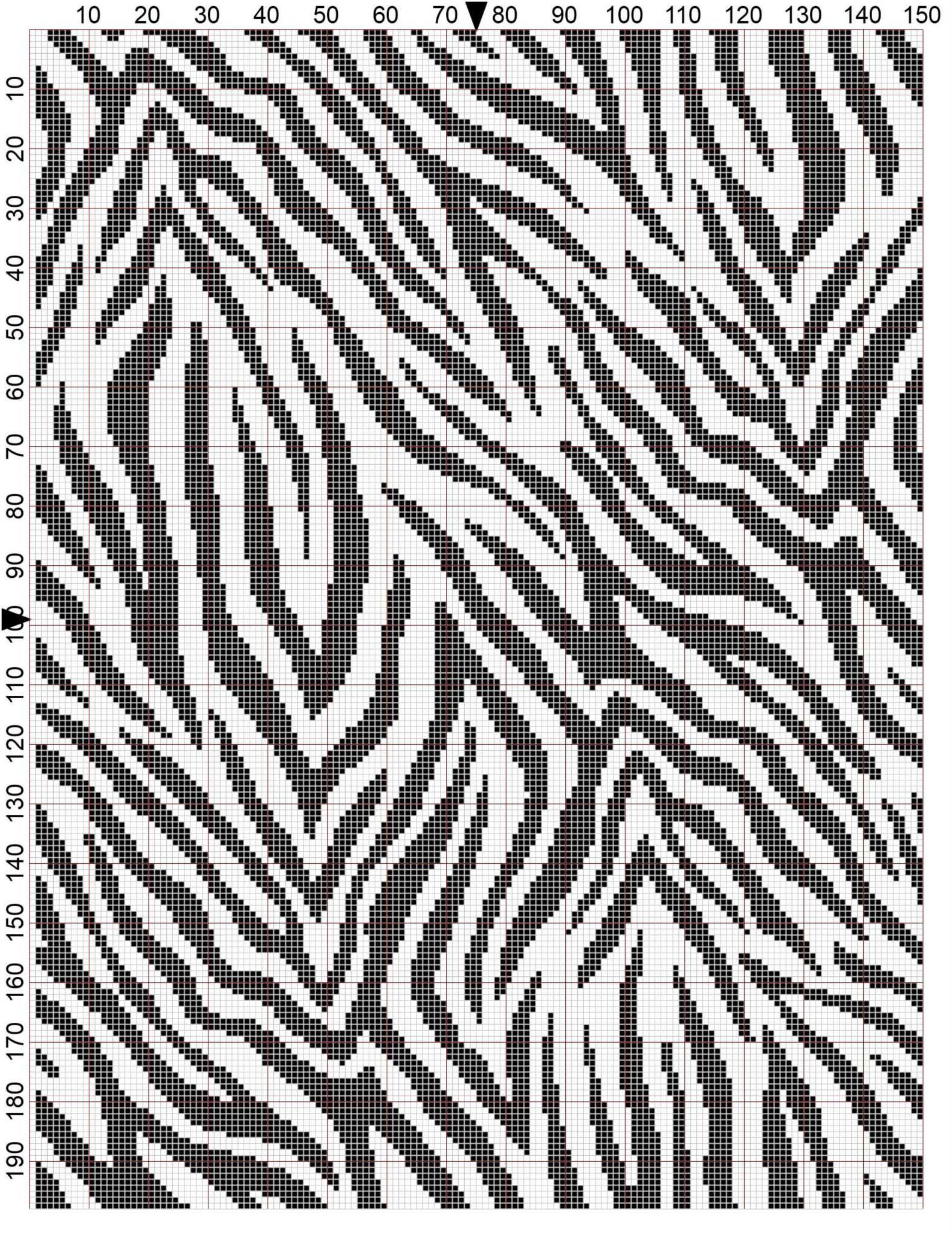 Zebra crochet chart I found online | Knitting Crotchet | Pinterest ...