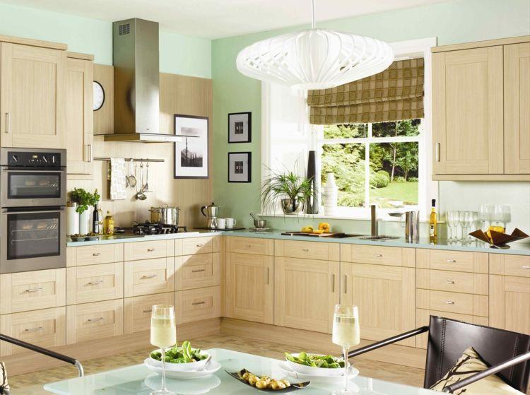 Farbe für Küche \u2013 Küchenwand in Kontrastfarbe streichen #farbe - farben für küchenwände