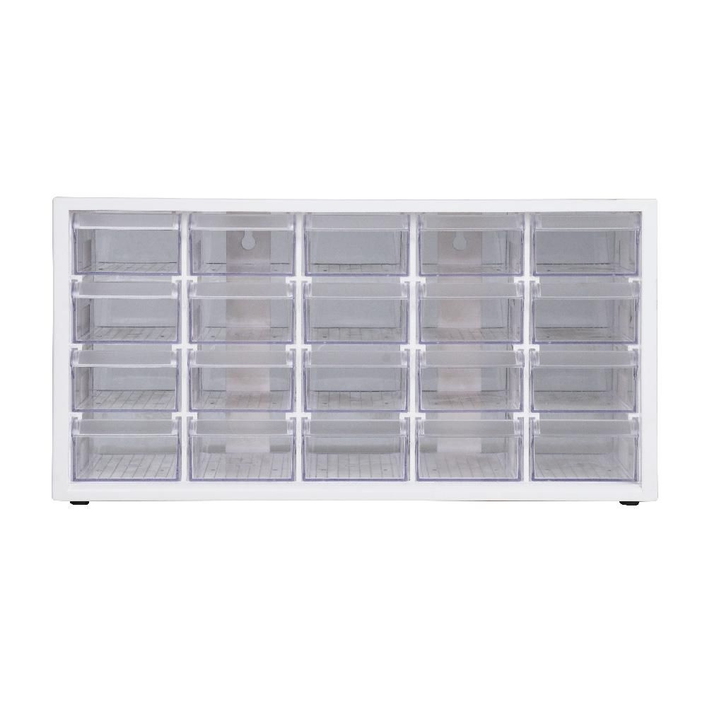 Livinbox Stationery Crafts And Hardware Organizer Plastic Storage Bin With 12 Assorted Transparent Compartments In White A9 520 01 The Home Depot Hardware Organizer Plastic Storage Bins Plastic Storage