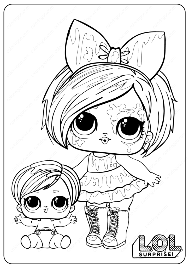 Free Printable LOL Surprise Oops Baby Coloring Pages in ...