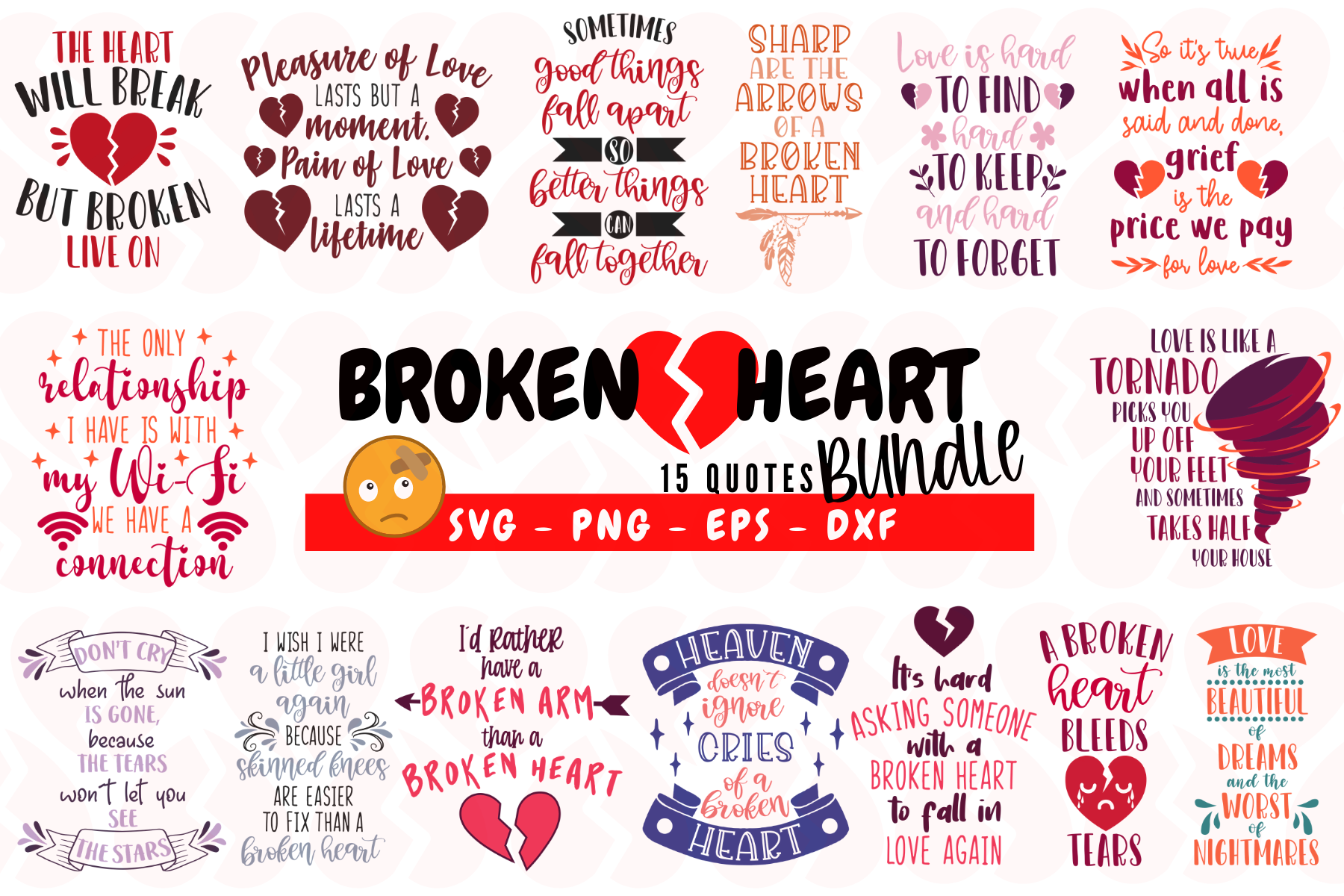 Broken Heart Bundle (Graphic) by Graphipedia di 2020
