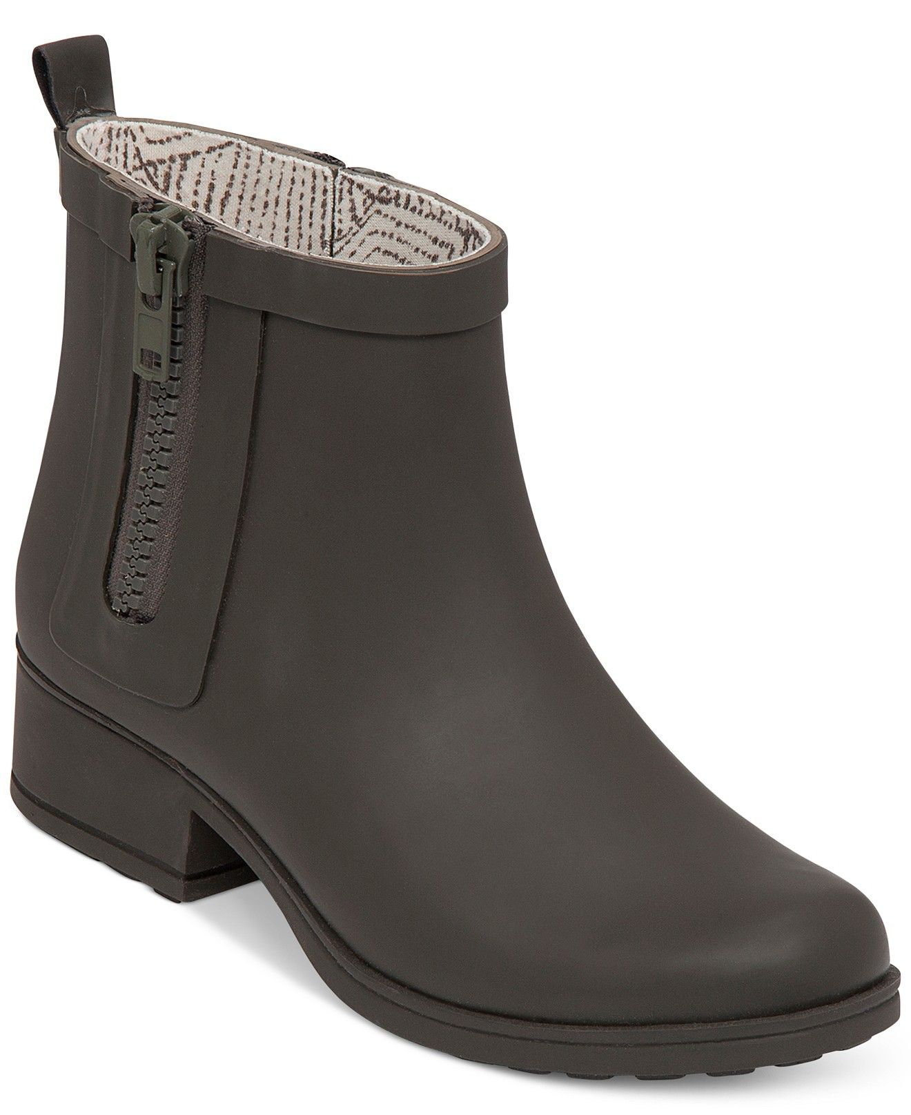 57b59dd2e7b Lucky Brand Women s Rhandi Rain Booties - Boots - Shoes - Macy s ...