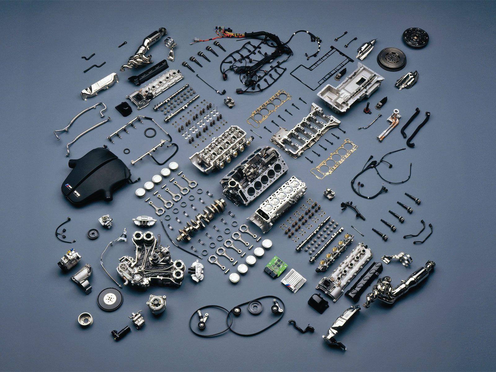 Exploded view BMW V10 Engine V10 Engine, Motor Engine, Bmw M10, Bmw M5
