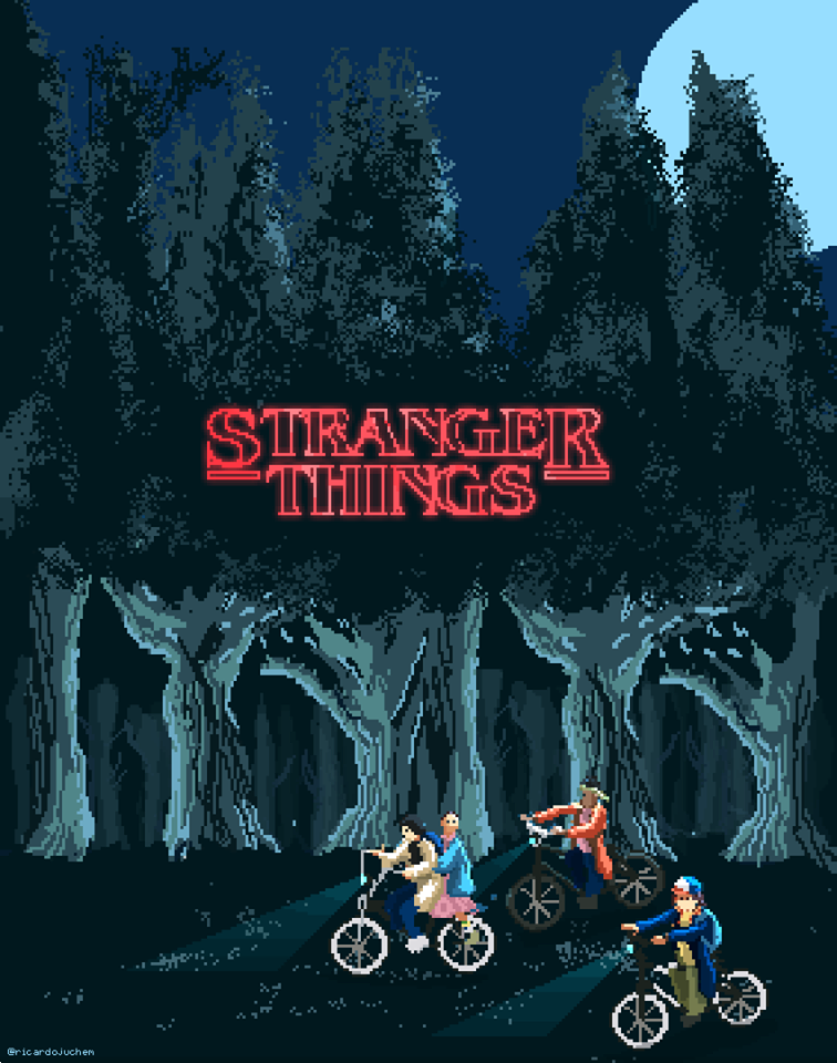 Stranger things fan art series fondos y cosas extra as for Fondo de pantalla stranger things