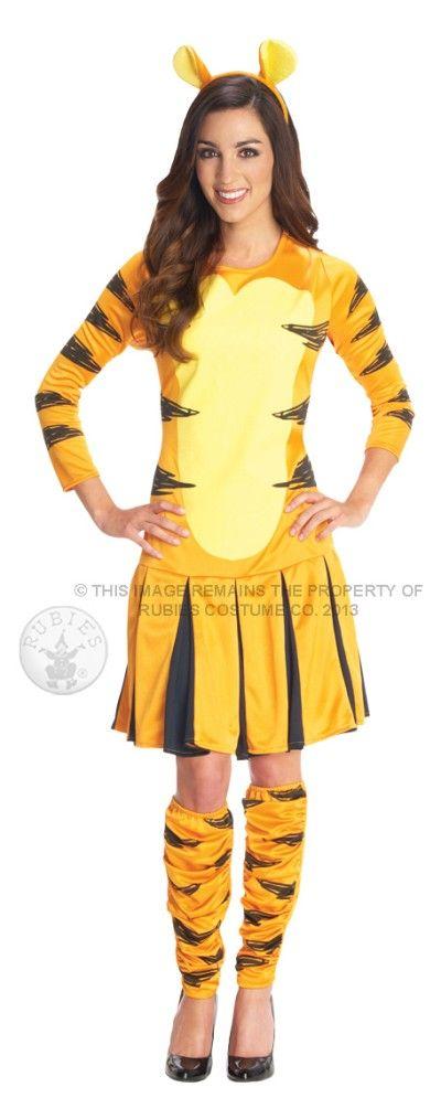 d998f684ce7f Adult Disney Miss Tigger Fancy Dress Costume Winnie the Pooh Tiger Ladies  Womens