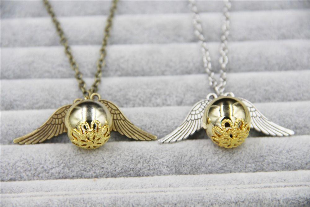 Harry Potter Lesezeichen Golden Snitch Ball Silber Angel Wings Geschenk