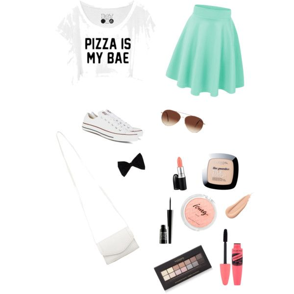 Boardwalk! by francie831 on Polyvore featuring polyvore, fashion, style, Converse, Pieces, PINK BOW, Eloquii, MAC Cosmetics, Lord & Berry and Forever 21