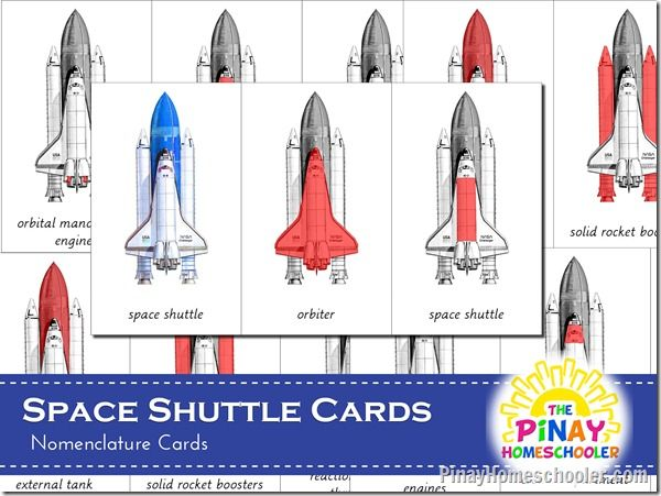 Photo of FREE  Space Shuttle Nomenclature Cards