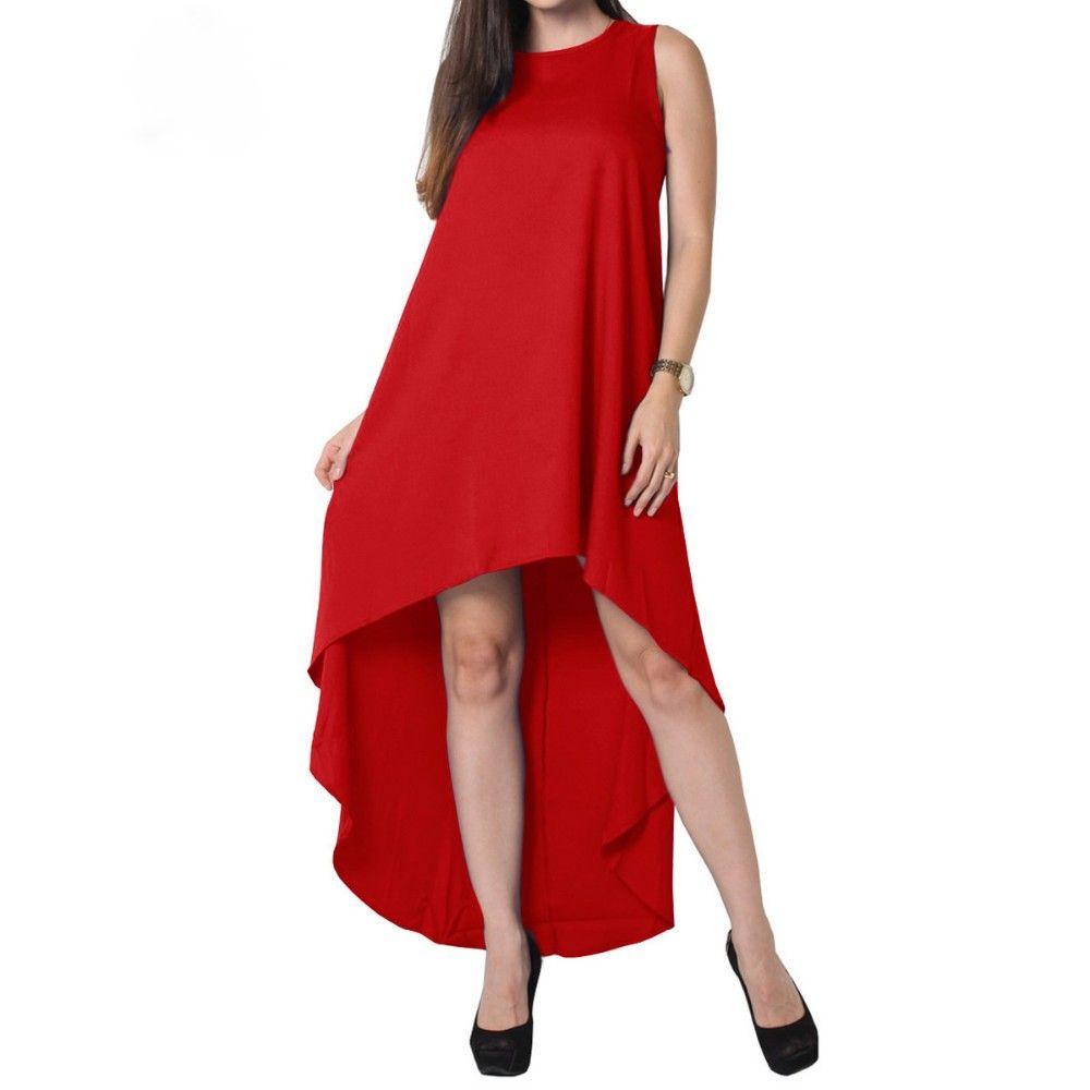 Tunika Sommerkleid in Vokuhila Style Rot | rote Kleider | Pinterest ...