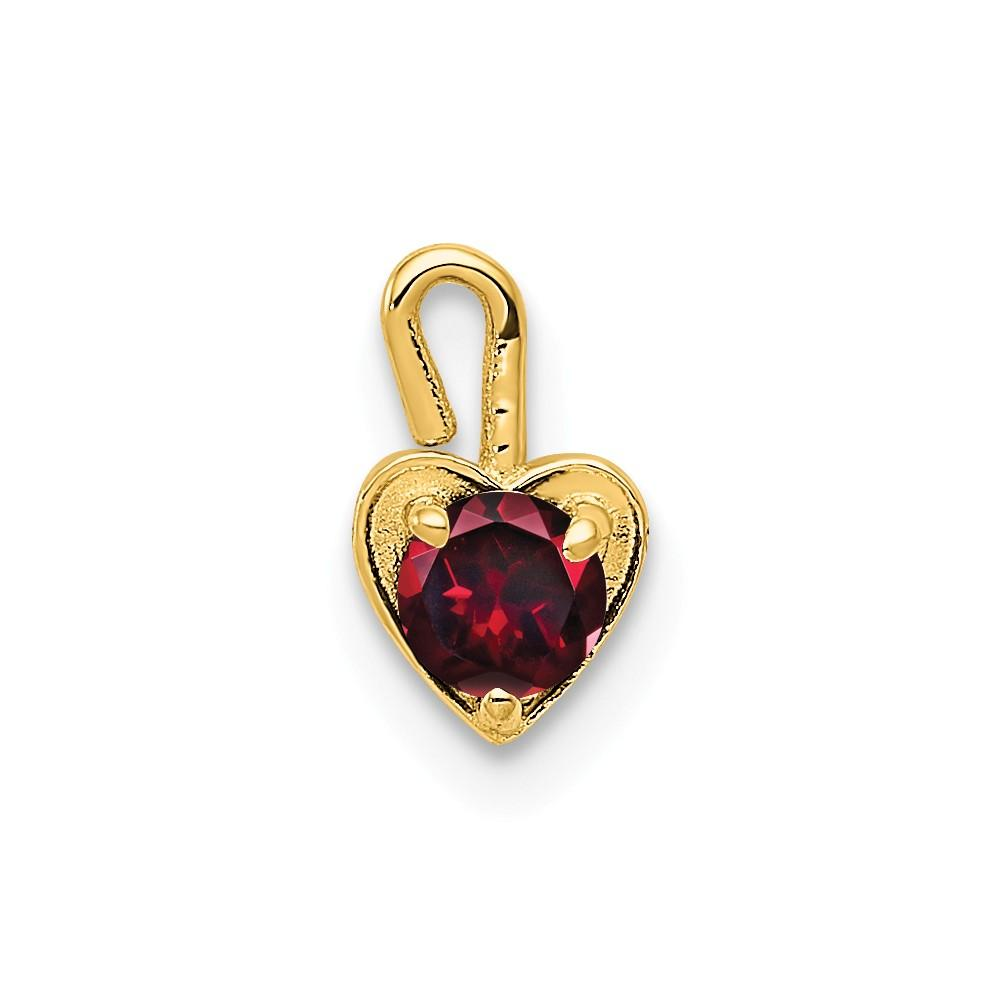 14ky July Synthetic Birthstone Heart Charm | Products in