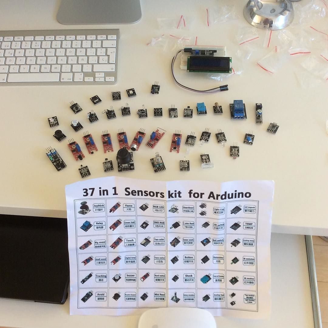 The orchestra is here... #arduino #temperature #sensor #joystick ...