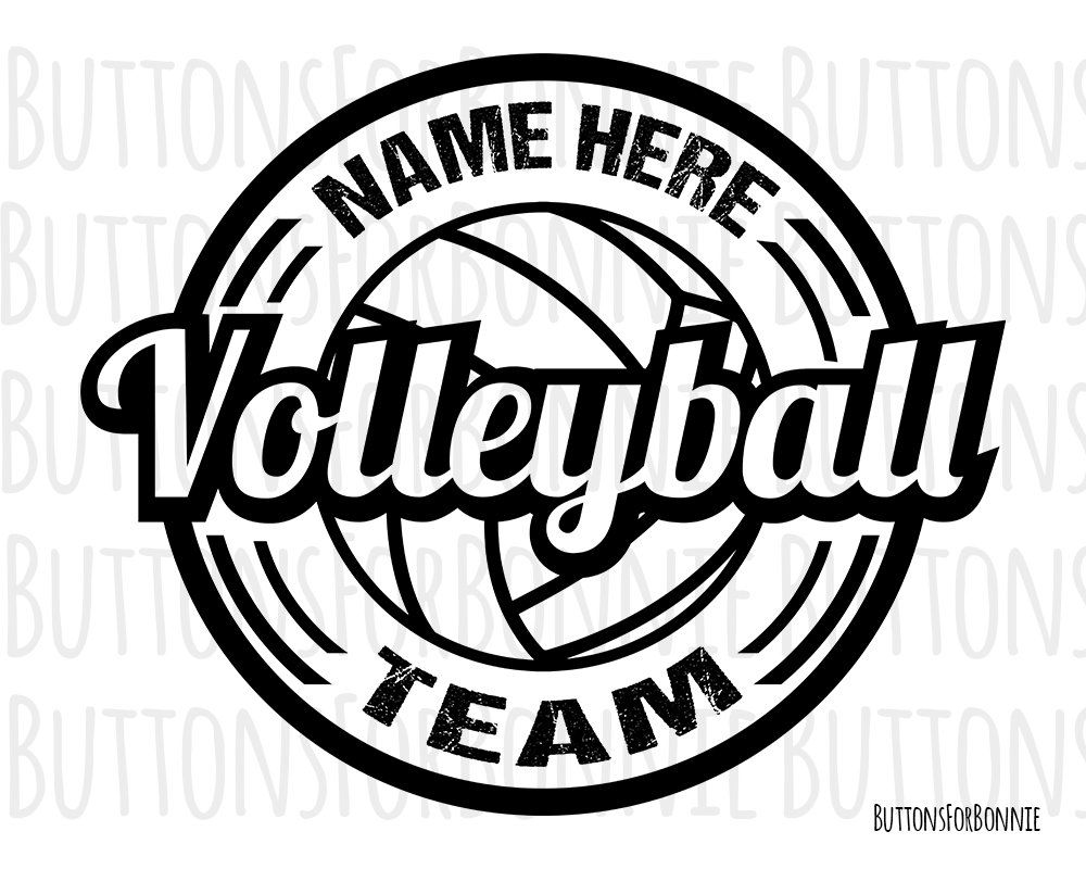 Volleyball Svg Volleyball Vector Volleyball Emblem Etsy Volleyball Volleyball Shirt Designs Volleyball Camp