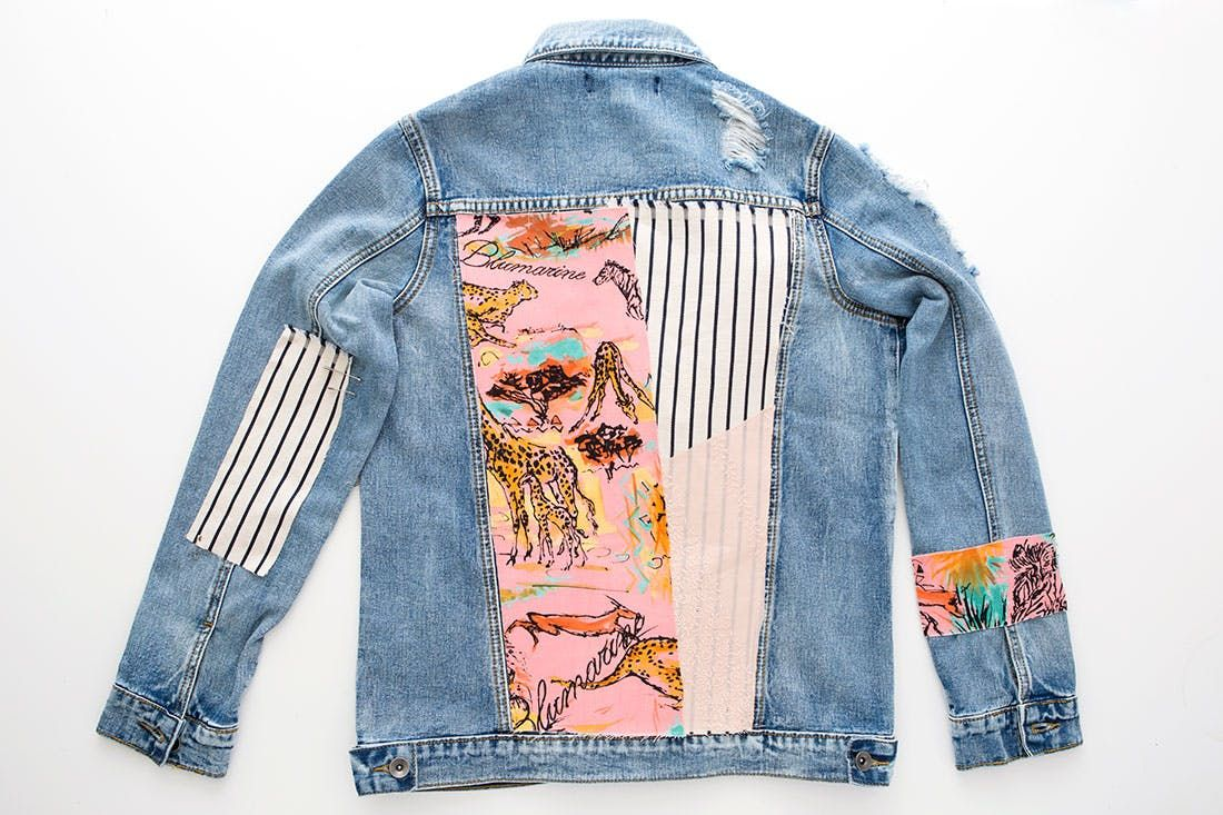 How to Upgrade Your Old Jean Jacket With Fabric