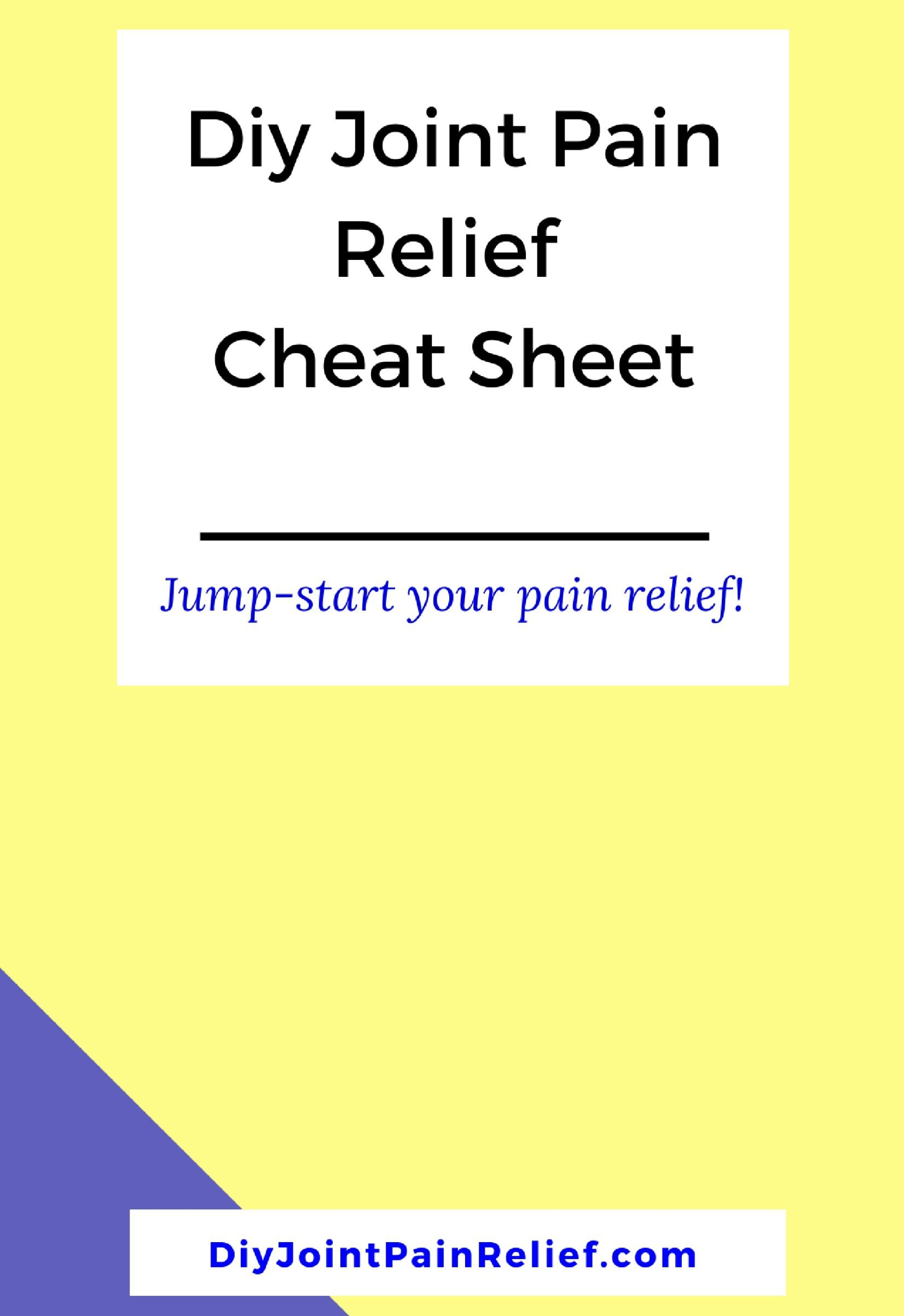 Free pain relief cheat sheet at do it yourself joint pain relief free pain relief cheat sheet at do it yourself joint pain relief solutioingenieria Choice Image