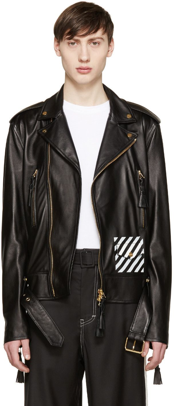 OFFWHITE C/O VIRGIL ABLOH LEATHER JACKETS