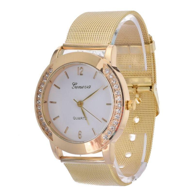 Fashion Girls Women Ladies Unisex Stainless Steel Quartz Wrist Watch