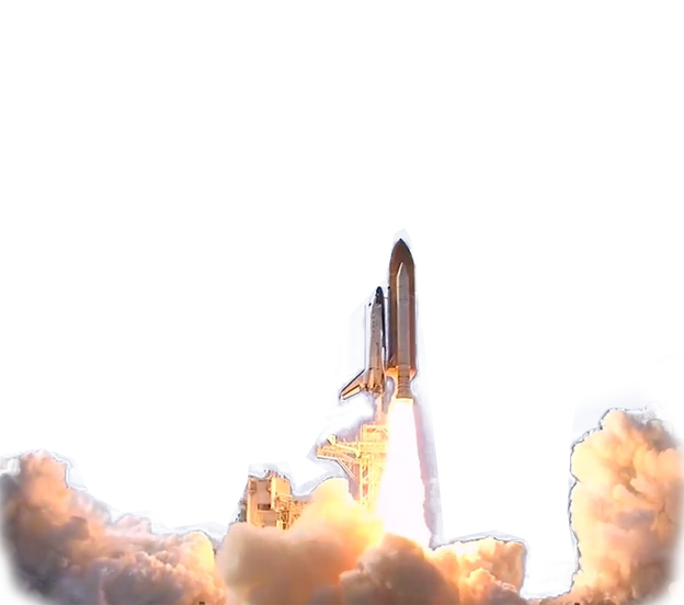 Space Shuttle launch transparent image Space images
