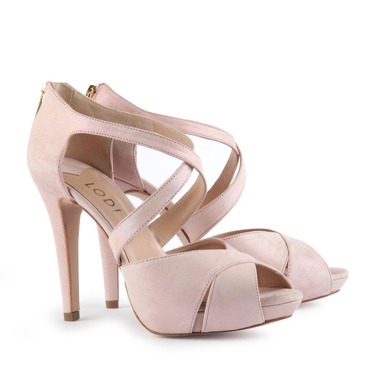 Sandalias de tacón de mujer Lodi en ante de color rosa MLZ8ZP6Wwj