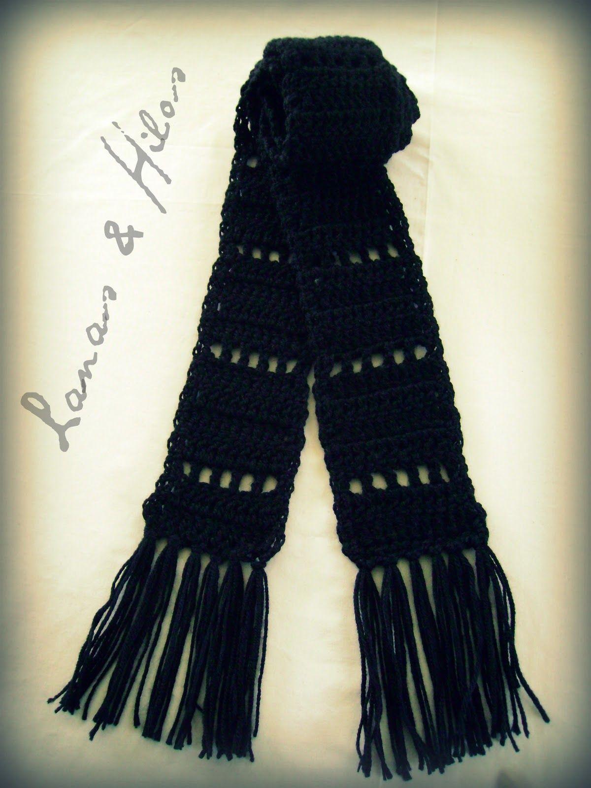 Lanas Hilos: 2 CROCHET SCARVES | patrones crochet | Pinterest | Hilo ...