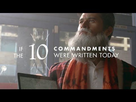 If The 10 Commandments Were Written Today Youtube Catholic Humor 10 Commandments College Humor