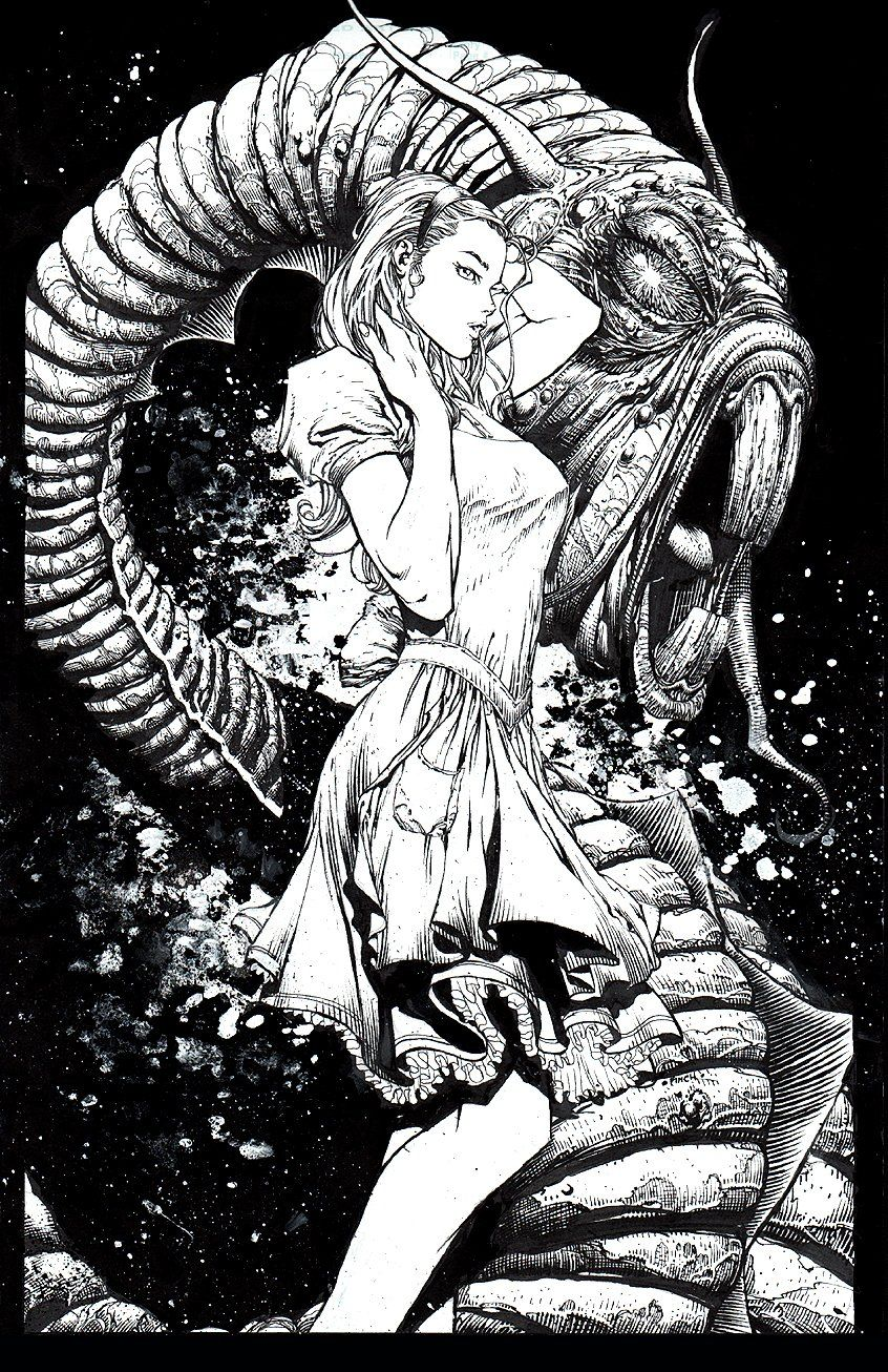 Beyond Wonderland 1 Cover (2008) Comic Art For Sale By