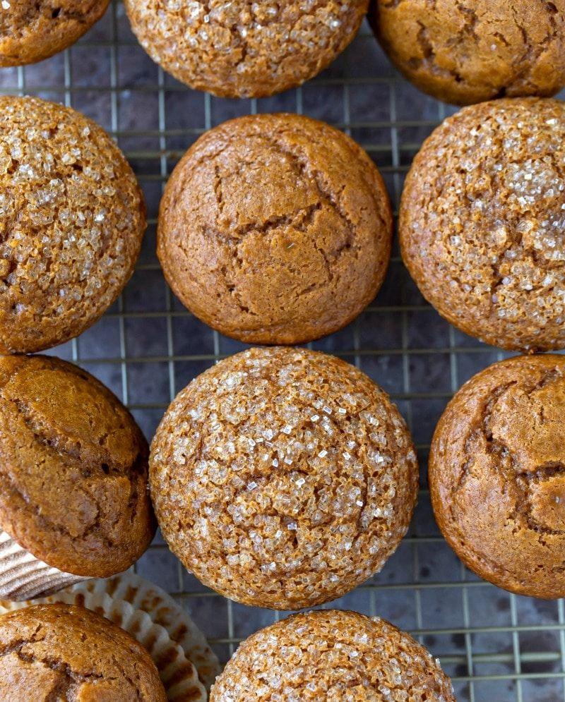 Christmas Tree Muffins: Gingerbread Muffins