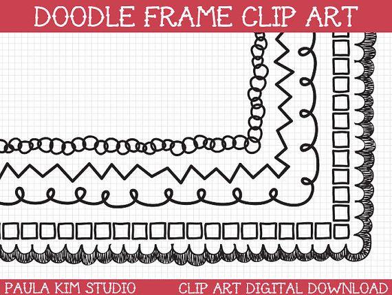 doodle clipart border clip art downloadable images frame clipart