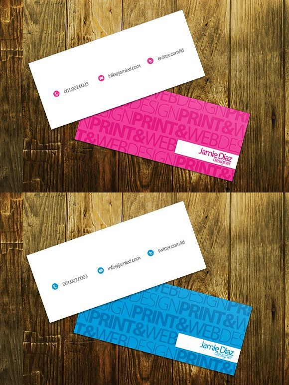 Typo Mini Business Card Mini Business Card Business Card Template Psd Business Cards