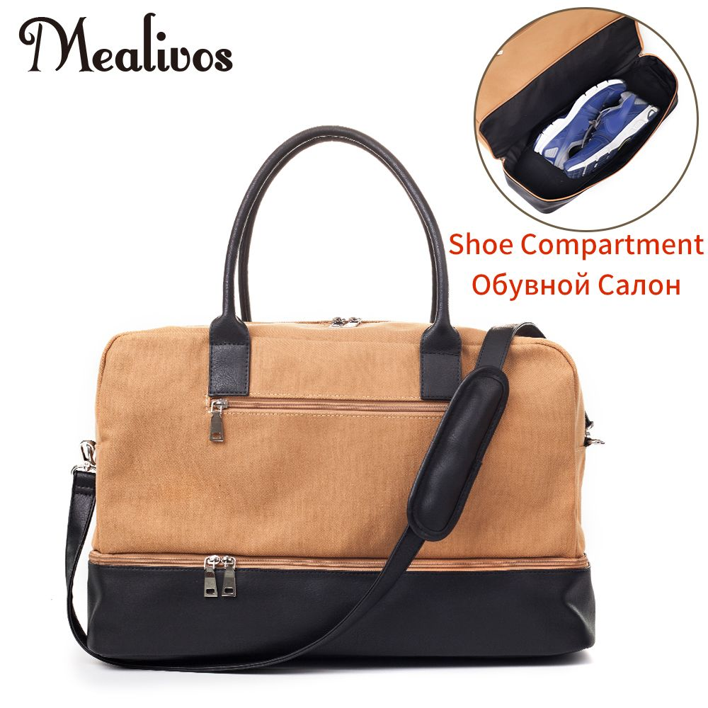 c4e0c9ae0d40 Find More Travel Bags Information about Mealivos 2017 Fashion Canvas Male Large  Weekender Bag Overnight men travel bags Carry On Duffel with Shoe Pouch ...