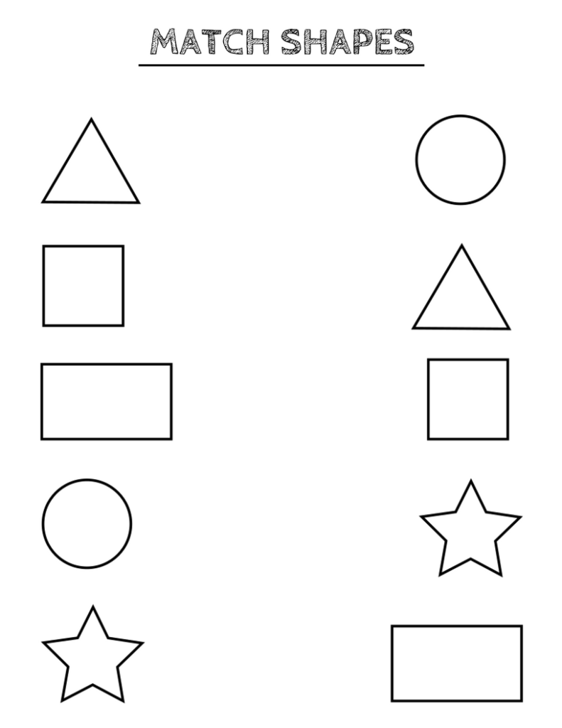 Free printable shapes worksheets for toddlers and ...
